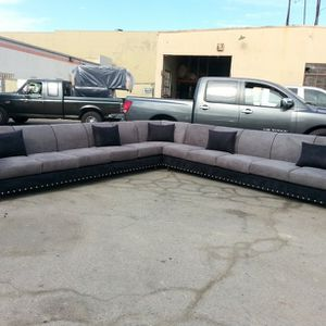 NEW 13x13ft CHARCOAL MICROFIBER COMBO SECTIONAL COUCHES for Sale in Ontario, CA