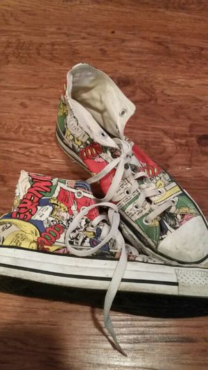 Comic strip Converse High top shoes for Sale in St. Louis, MO