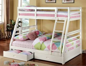 White Bunk Bed Twin over Full Brand New for Sale in Anaheim, CA