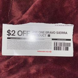 Free Bravo Sierra Product Coupon for Sale in Paramount,  CA