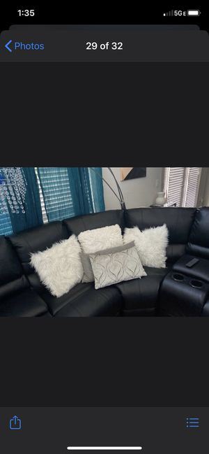 Black sectional for Sale in Houston, TX