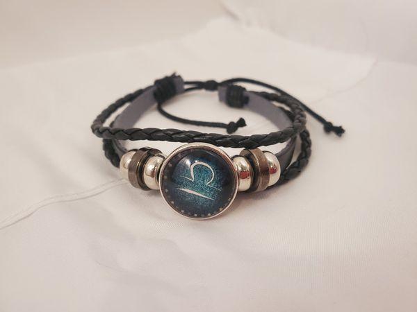 Leather Libra Bracelet