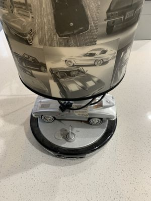 CORVETTE STINGRAY Collector Table Lamp Made By KNG America EUC! Broken For Parts for Sale for sale  Canton, GA