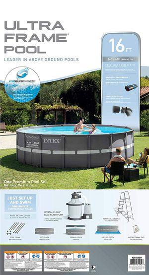 "Intex 16ft x 48"" Ultra Frame Swimming Pool w/2800 GPH Sand Filter Pump for Sale in Phoenix, AZ"