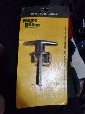 Wayne Dalton Replacement Garage Door Handle w lock for Sale in Spokane, WA