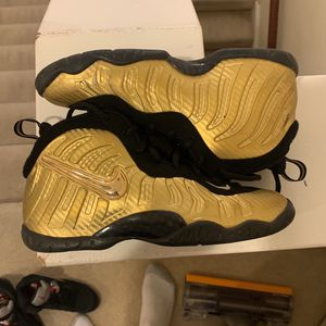 Metallic Gold Foamposite for Sale in Gainesville, VA