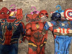 Halloween costumes flash Spider-Man captain America for Sale in Austin, TX