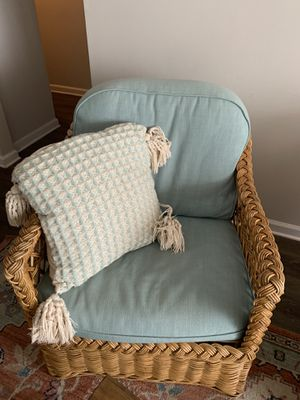 Anthropologie - Ivory and Blue Pillow for Sale in Atlanta, GA