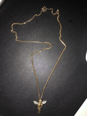 Sterling Silver Gold Plated Angel Necklace for Sale in Kissimmee, FL