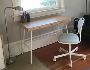 IKEA Bamboo LILLASEN Desk + ORFJALL Swivel Chair for Sale in Berkeley, CA