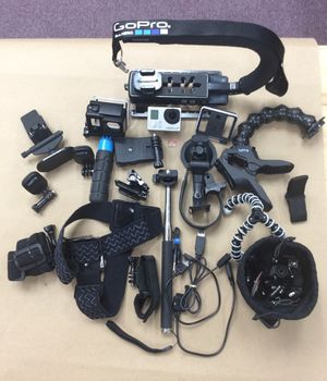 GoPro Hero 3+ w/ 64GB SD Card ,Multi Accessories, Mounts, Straps, Stands, Sticks and USBs for Sale in Laurel, MD