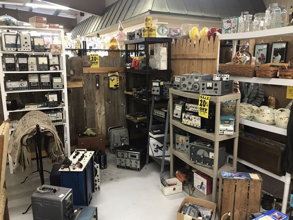 Electronic test equipment booth e5 flying moose antique mall