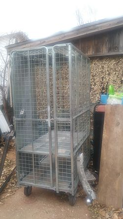 Tool cage. Parrot cage big Bird cage . 66'HT. 42 1/2' WD. 30' WTH for Sale in Oklahoma City,  OK