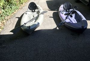2 lifetime kayaks ( 700$ for both ) ( Kuna - Triton ) for Sale in Algonquin, IL