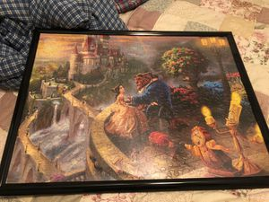Beauty and beast puzzle picture frame for Sale in Highland, CA