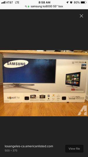 "Samsung ks8000 55"" SUHD 4k hdr flat panel tv. for Sale in Johnson City, TN"