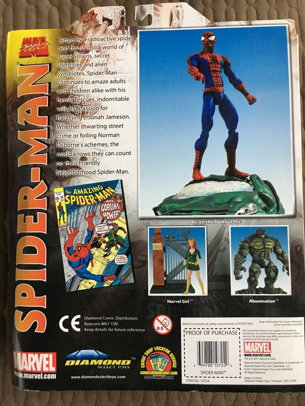 Marvel Select Spider-Man and Abomination Figures NIB