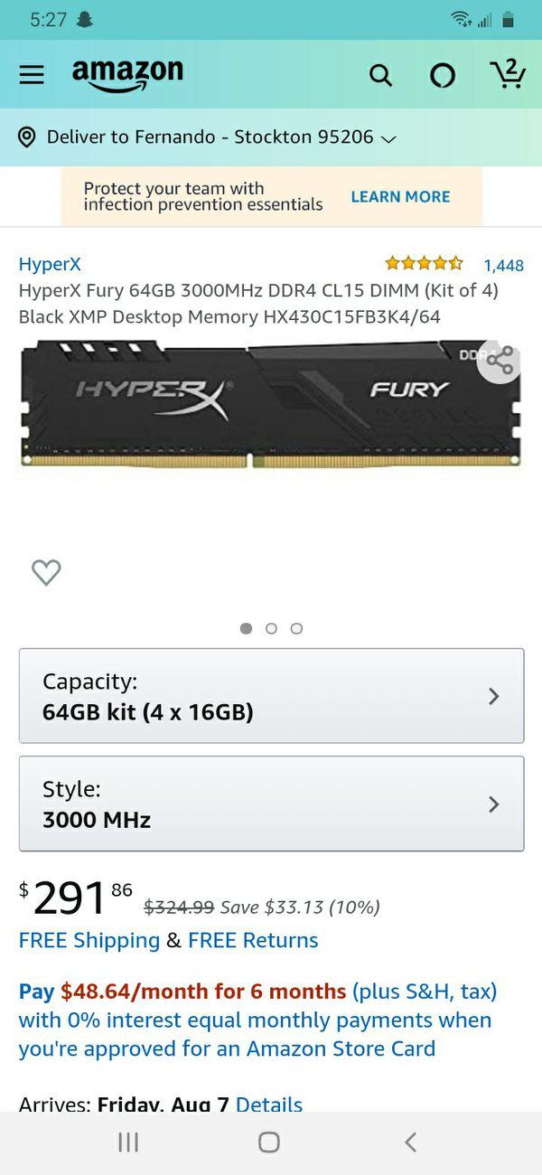 Hyperx fury 64Gb kit of 4