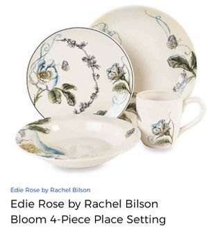 4-pc Place Setting Edie Rose Bloom Collection w/ Matching Spoon Rest (Priced for 2 sets) for Sale in Leesburg, VA