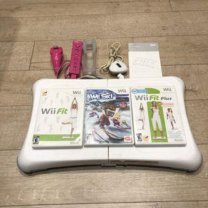 Nintendo Wii Fit Balance Board Bundle Wii Fit Plus Jog Add On Wii Ski Wii Remote for Sale in Phoenix, AZ