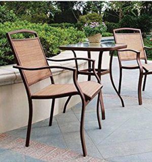 New!! Patio set, 3 pc. Bistro patio set, outdoor conversation set, chat set, patio furniture , tan for Sale in Phoenix, AZ