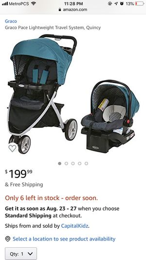 Gracie pace car seat and stroller travel system for Sale in Covina, CA