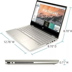 "HP Pavilion x360 2-in-1 14"" Touch 256GB, i5 10thGen. 8GB Luminous Gold for Sale in Los Angeles, CA"