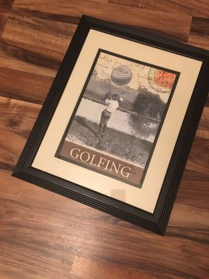 Golfing Picture with frame for Sale in Island Lake, IL