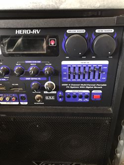 VocoPro Hero-RV Multi-Format Portable P.A. System And 1 Microphone 🎤 for Sale in Arlington,  TX