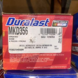 Duralast MKD356 Front Brake Pads 1988 Toyota's Camry for Sale in Burbank, CA