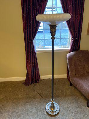 Antique torchiere pearl glass floor lamp for Sale in Bainbridge Island, WA