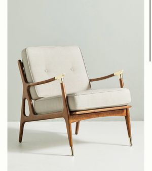Pair of wooden armchairs with brass accents (retail $1596 + tax) for Sale in Key Biscayne, FL