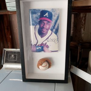 McGriff Autographed Baseball And Picture In A Case To for Sale in St. Petersburg, FL