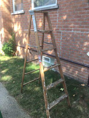 6' Werner wooden step ladder for Sale in Westland, MI