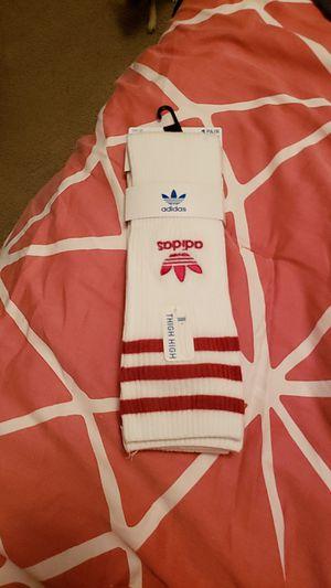ADIDAS Thigh High Red Stripe socks for Sale in Lake Worth, FL