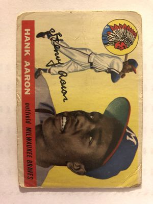 1955 Topps Hank Aaron baseball card for Sale in Rockville, MD