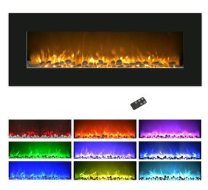 """Northwest 50"""" Color Changing LED Electric Fireplace with Remote-Black for Sale in Cleveland, OH"""