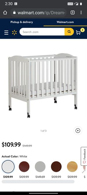 Dream On Me Portable Foldable Crib - New for Sale in Chandler, AZ