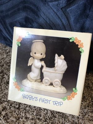 """Precious Moments """"Baby's First Trip"""" vintage 80s figurine for Sale in Riverside, CA"""