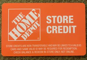 Home Depot store credit 650$ -must be redeemed at time of purchase. for Sale in Kissimmee, FL