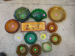 Vintage glass Ash Trays collection for Sale in Lakeside, CA