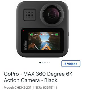 Gopro Max 360 degree 6K action camara for Sale in New York, NY