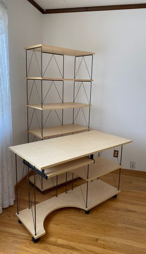Wonderful desk and bookshelf for sale! Home office perfection! for Sale in San Jose, CA