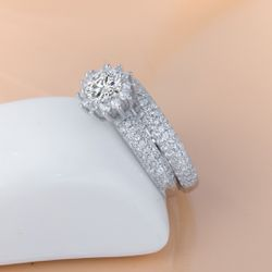 925 Solid Sterling Silver Diamond Promise Engagement Wedding Ring With Fancy Box for Sale in San Jose,  CA