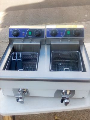 Brand New Double deep fryer commercial worth $240 for Sale in Anaheim, CA