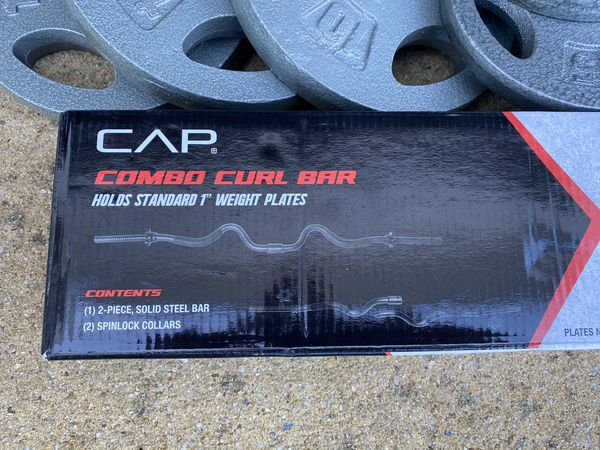 Curl Bar Weight Plate Combo 70lbs $199
