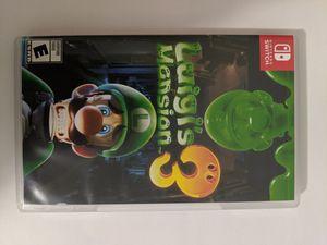 Luigi Mansion 3 Nintendo Switch videogame for Sale in Midlothian, VA