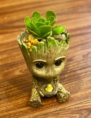 Pot Planter Groot Galaxy Man Baby Figure Flower Gift Style Toy Pen Container for Sale in Westminster, CA