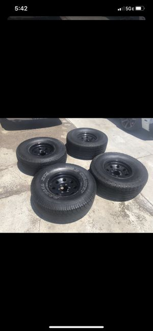 315/75r16 6 lug eagle alloy wheels/rims for Sale in Norco, CA