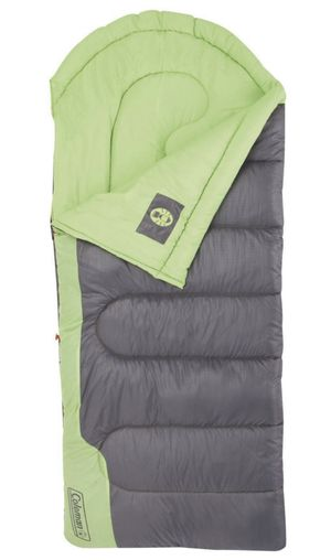 Coleman Raymer 40 Degree Sleeping Bag - Green/Gray, Adult Unisex, Green Gray, Tall (6' 3'') for Sale in Sunnyvale, CA